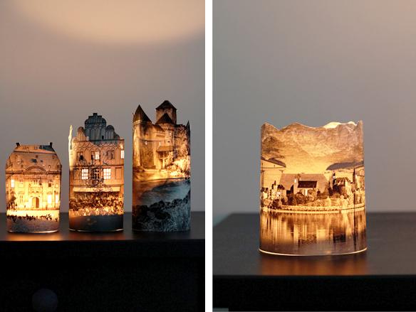 世界の風景で部屋を灯す