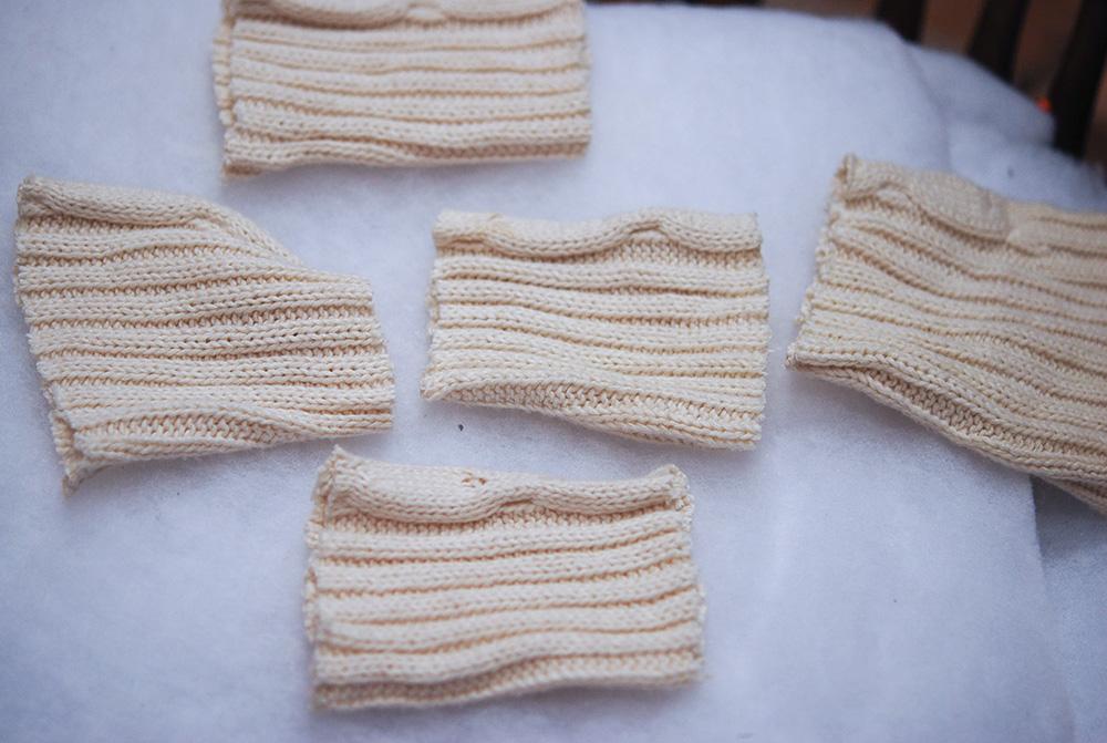 いらなくなったセーターで作ったカボチャ。