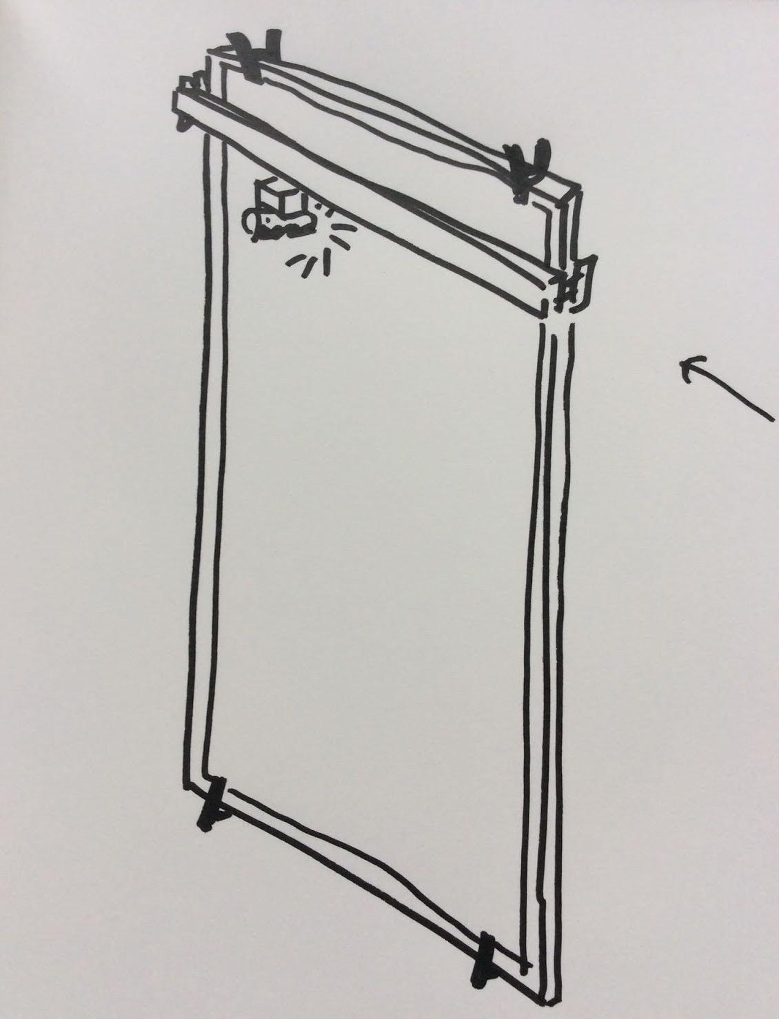 壁掛け式レーザーカッターのイメージ