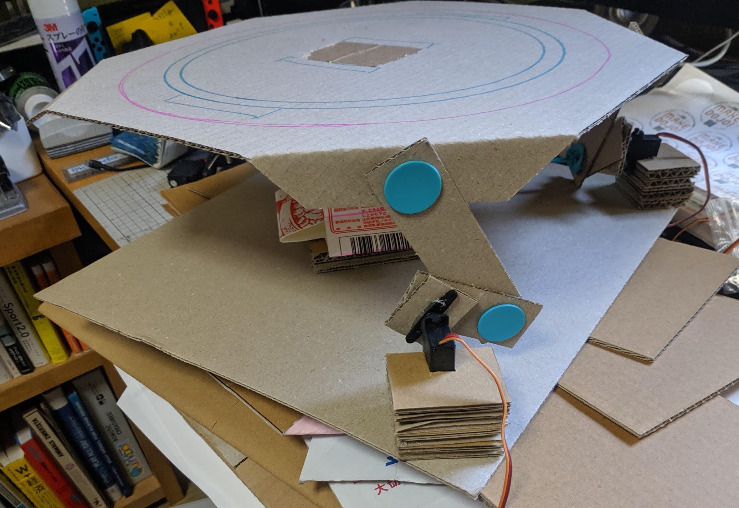 ロボット土俵のハードウェアスケッチ
